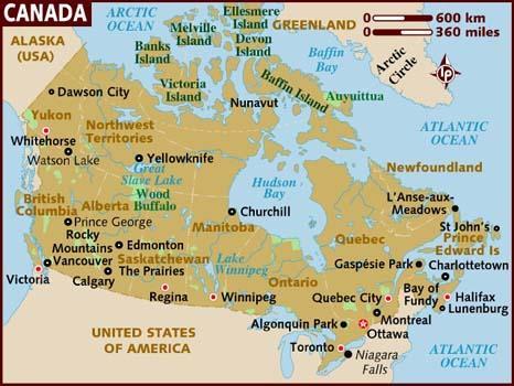 Kanada Risikogebiet