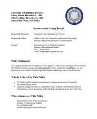 Campus Policy on International Group Travel